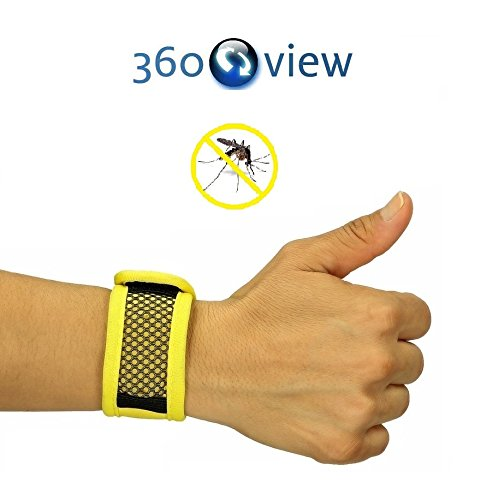 Natural Outdoor Mosquito Repellent Wristband, Bracelet + 5x Free Repellent Refills - [Eco-friendly] Best Pest Control Repeller Products for Ants, Insects & Other Mosquitoes - Perfect for Kids, Adults, Women and Men [Unisex]