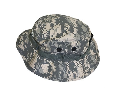 97da8cb2 Bucket Hat Digital Camo LACROSSE Boonie Safari Style (7 3/4, Tan Original)