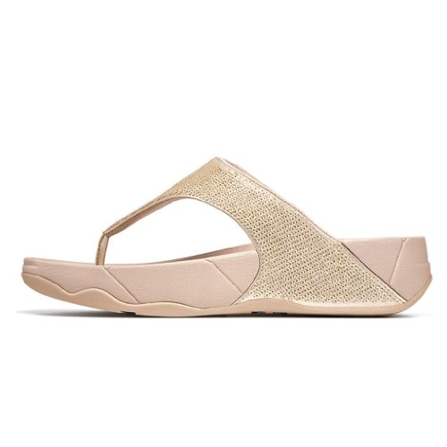 FitFlop Women's Astrid Thong Sandal,Gold,7 M US