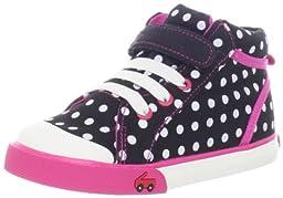 See Kai Run Peyton Sneaker (Infant/Toddler),Black,4 M US Toddler