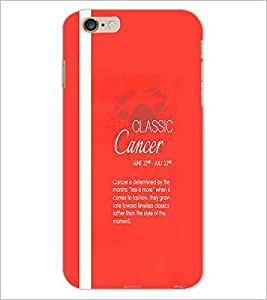 PrintDhaba Sunsign Cancer D-1229 Back Case Cover for APPLE IPHONE 6 (Multi-Coloured)