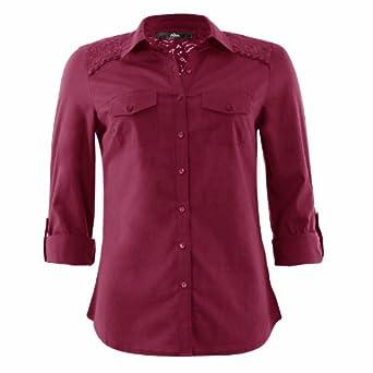 mim chemise dentelle femme 44 bordeaux v tements et accessoires. Black Bedroom Furniture Sets. Home Design Ideas