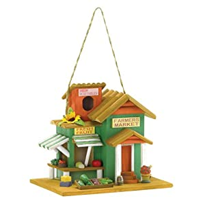 Gifts & Decor Farmers Market Outdoor Wooden Bird House (Discontinued by Manufacturer)