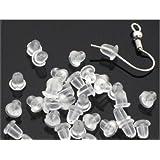 Clear Rubber Bullet Clutch Earring Safety Backs for Fish hook Earring 1000pcs