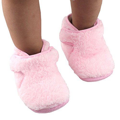 TAIYCYXGAN Cotton Unisex Baby Soft Plush Toddler Soft Sole Slipper Boots