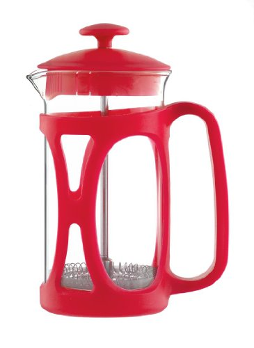 Grosche Basel French Press Coffee and Tea Maker (Small - 350 ml, Red)