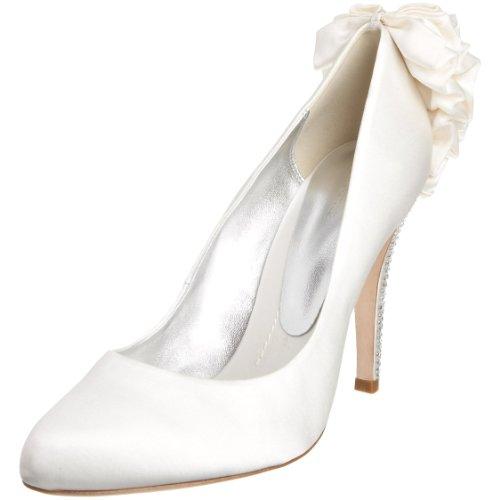 Bourne Women's Kirsten Ivory Satin Special Occasion Heels L06804 6 UK