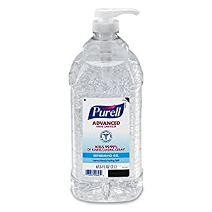 PURELL 9625-04  Advanced Instant Hand Sanitizer, Economy Size (2 L) - 4 Pack
