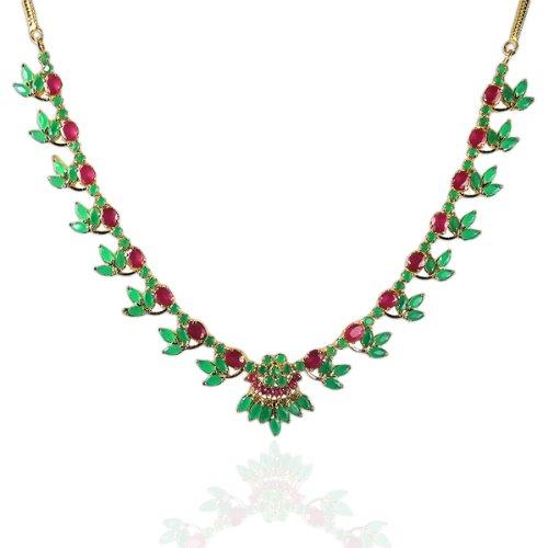 Nipuna Nipuna Multicolour Gold Plated Necklace Set For Women (NI - NLGDADMC10-00092) (Multicolor)