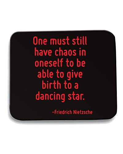 Cotton Island - Tappetino Mouse Pad CIT0177 One must still have chaos in oneself to be able to give birth to a dancing star., Taglia taglia unica