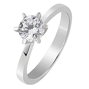 Goldmaid Damen-Ring Solitär 6er-Stotzen 585 Weißgold 1 Brillant 0,25 ct. Gr. 52 So R3989WG52