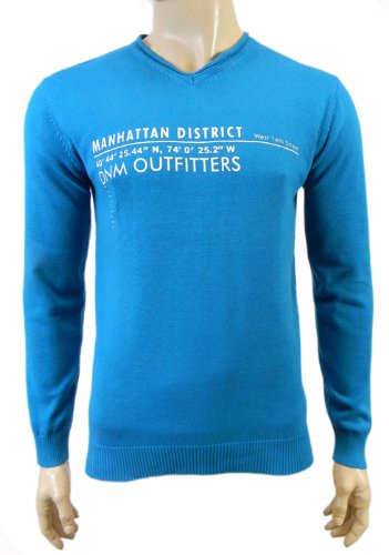 Mens Burnside V Neck Cotton Jumper Range of Colours & Sizes (Large 40/42