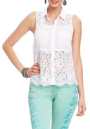 2B Mallory Lace Tunic 2b Woven Tops White-xxs