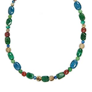 Sterling Silver Woodland Tones Beaded Necklace