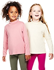 2 Pack Pure Cotton Roll Neck Tops