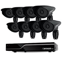 Defender 21113 Sentinel 8CH Smart Security DVR with 8 Hi-Res Outdoor Security Cameras