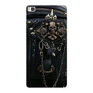 Ajay Enterprises Dangeress Zip Chain Back Case Cover for Huawei P8