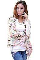 Demarkt Fashion Women Chiffon Wrap Colorful Butterfly Print Bowknot Pattern Scarf Shawl Scarves Pink