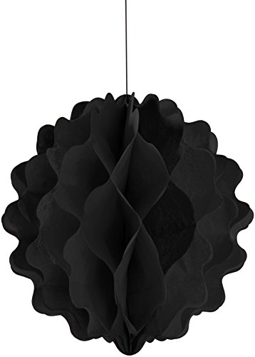 "Creative Converting Honeycomb Tissue Ball, 8"", Black"