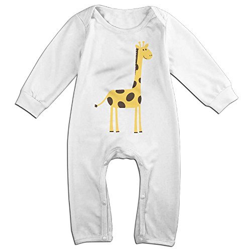 Posit-Babys-Giraffe-2-Boys-Girls-Kids-Creeper-Romper-Bodysuits-Jumpsuits-Size-US-White