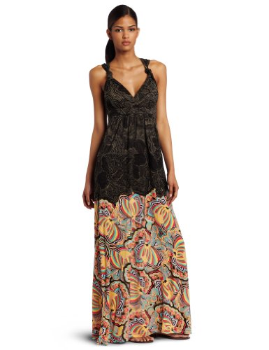 D.E.P.T. Women's Long Jersey Maxi Dress, Black, Medium