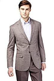 Sartorial Pure Wool 2 Button Checked Jacket