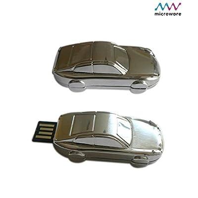 Microware 16GB Metal Car ShMicroware Designer Pen Drive