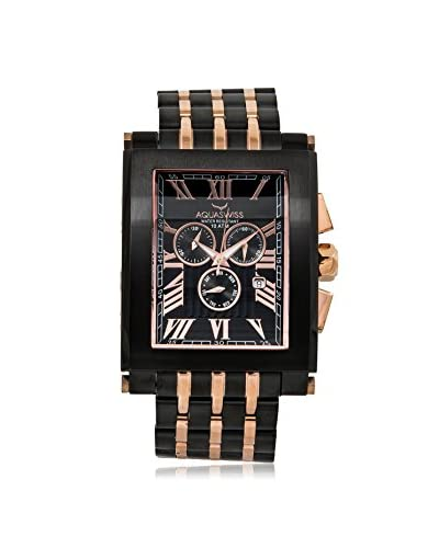 Aquaswiss Men's 64XGS007 Tanc XG Rose Gold-Tone/Black Stainless Steel Watch
