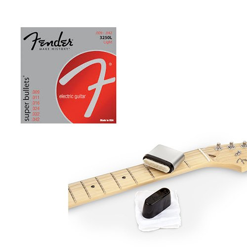 Super Bullets Nickel Plated Steel Strings 3250L Deluxe w/ Fender String Cleaner Pack (Fender Guitar Cleaner compare prices)