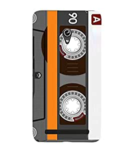 Old Musical Tape Record Cassette Cute Fashion 3D Hard Polycarbonate Designer Back Case Cover for Asus Zenfone 6 A600CG