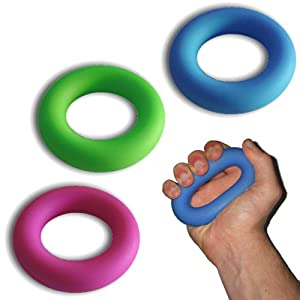Set of 3 Hand Grip and Forearm Exerciser Rings