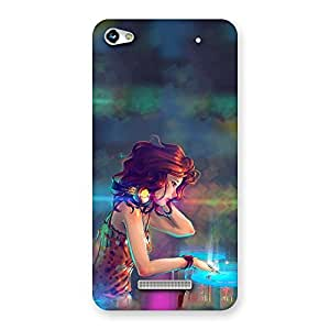 Delighted DJ Girl Play Back Case Cover for Micromax Hue 2