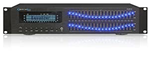 Technical Pro EQB7151 Professional Dual 20 Band Equalizer Rack Mount Equalizer, Black