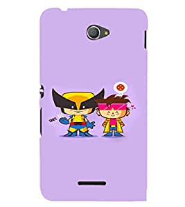 EPICCASE Cute Little Heros Mobile Back Case Cover For Sony Xperia E4 (Designer Case)