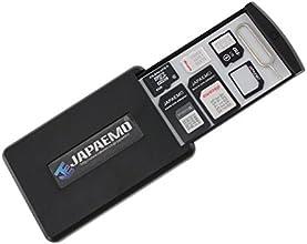 【JAPAEMO国内正規品】 粘着式グリップパッド技術 SIM カード や SD カード 紛失防止 持ち運び ケース JAPAEMO製 SIM変換アダプタ 4点 セット ブラック JSC-1503