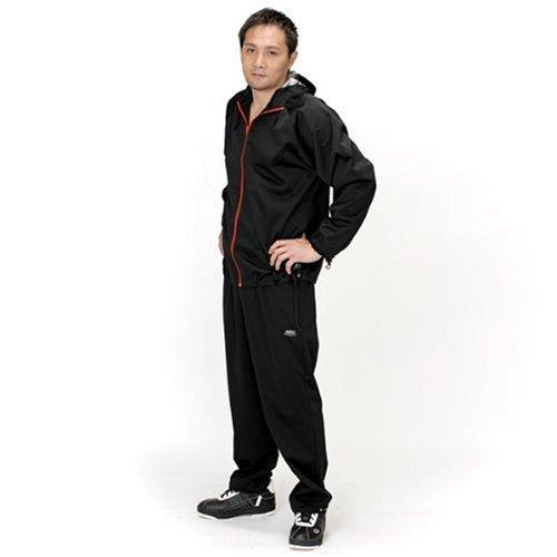 30'upDIET(サーティアップダイエット) シェイプスーツ ジオバイザー メンズ ブラック×レッド 3Lサイズ 30-216
