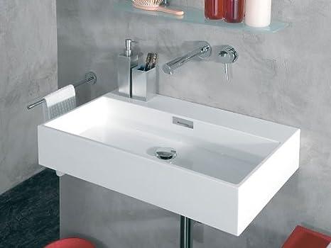 Lineabeta 537101.09 Lavabo Multiposizione senza Foro 70 x 42 cm, Bianco
