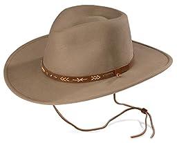 Stetson Men\'s Santa Fe Crushable Wool Hat Mushroom Small