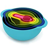 Joseph Joseph Nest 8 Food Preparation Bowl Set, Multi-Colour