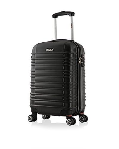 InUSA New York 20 Carry-On Hardside Luggage, Black