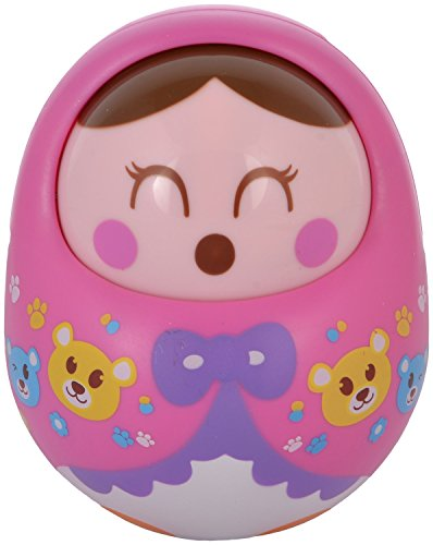 WonderKart Push And Shake Wobbling Durable Roly Poly Tumbler Doll With Soft & Sweet Bell Sounds - Pink