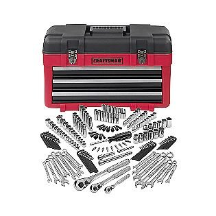 Craftsman 182 Pc. Mechanics Tool Set With 3-Drawer Chest, #33182 front-460839