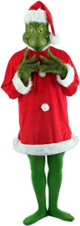 elope Dr. Seuss Santa Grinch with Mask, Large/Extra Large