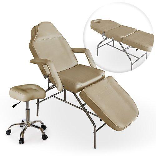 Professional Multi Purpose Cream Salon Chair Massage Table With Adjustabl