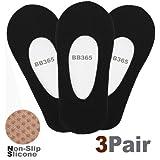 DRSKIN @ 3Pack(choose color) Women Girls No Show Foot Liner Low Cut Loafer