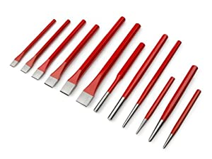 TEKTON 6738 Cold Chisel and Punch Set, 12-Piece