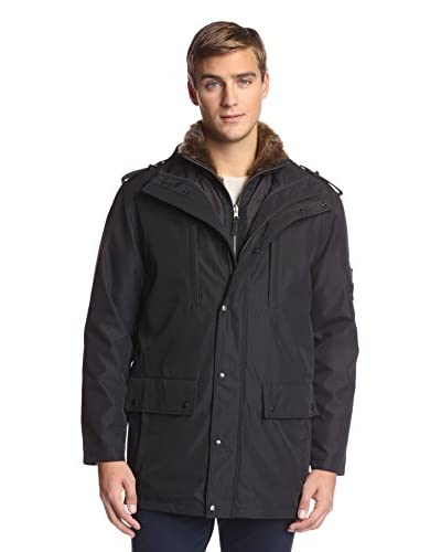 S13 Men's Bond 33 Inch Utility Coat With Removable Faux Rabbit Lining