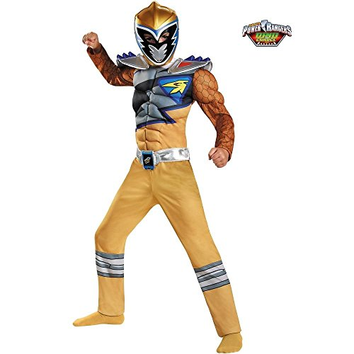 Disguise Gold Ranger Dino Charge Classic Muscle Costume, Small (4-6) (Golden Power Ranger compare prices)