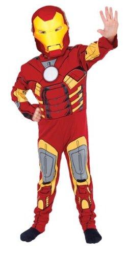 Kinder Kostüm Ironman Superheld Kinderkostüm Marvel Comic Superhelden Iron Man Comickostüm M 5-6 Jahre