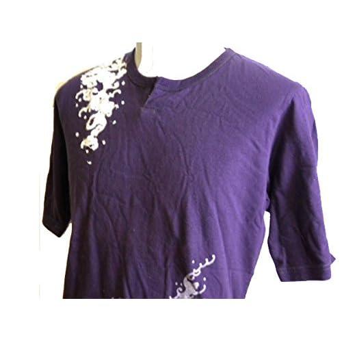 タケオキクチ TAKEO KIKUCHI 半袖Tシャツ 和柄 紫鯉 L